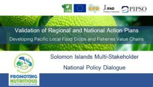 Solomon Islands National Validation Workshop @ Kitano Mendana Conference Centre
